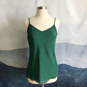 NWOT 100% silk J.Crew green camisole blouse XS
